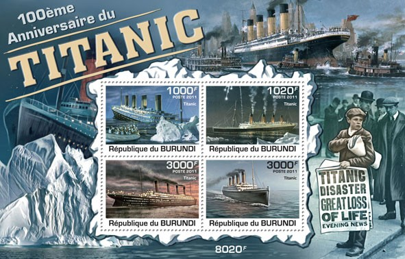 Burundi 2001 Titanic 100th Anniversary
