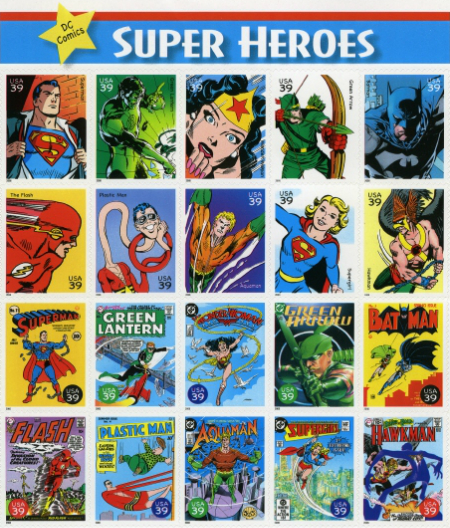 USA 2006 DC Superheroes Sheet
