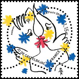 France 2015 Jean-Charles de Castelbajac Heart stamp