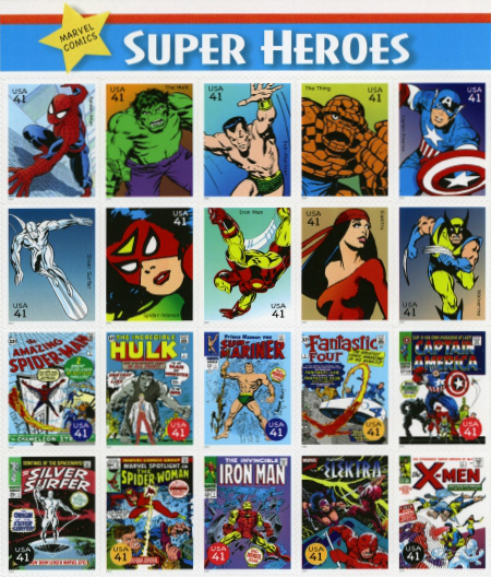 USA 2007 Marvel Superheroes Sheet