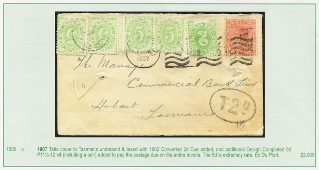 Phoenix Auction 36 Lot 1506 - Tatts cover ex-Du Pont