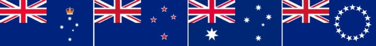 Union Jack flag lineup