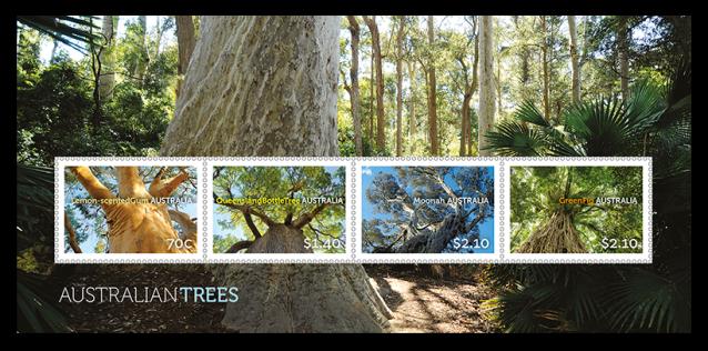 Australia 2015 Australian Trees minisheet