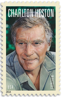 USA 2014 Charlton Heston stamp