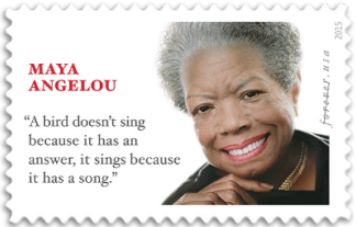 USA 2015 Maya Angelou stamp