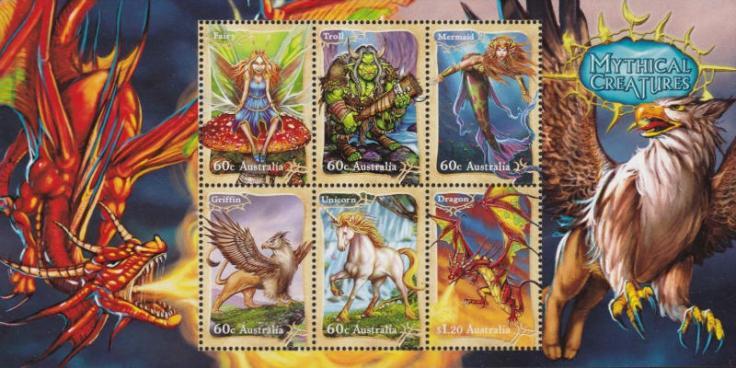Australia 2011 Mythical Creatures minisheet