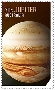 Australia 2015 Our Solar System Jupiter stamp