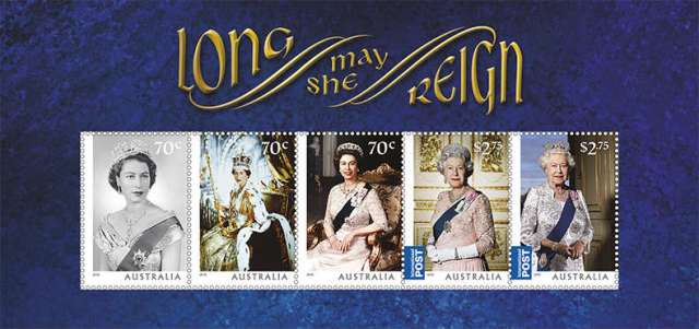Australia 2015 Long May She Reign minisheet