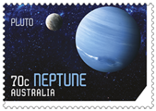 Australia 2015 Our Solar System Neptune and Pluto stamp
