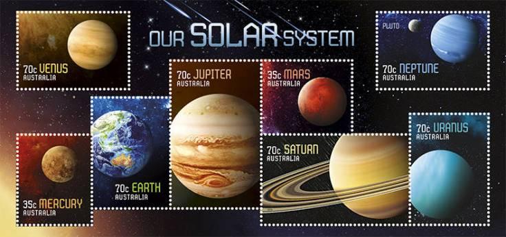 Australia 2015 Our Solar System minisheet