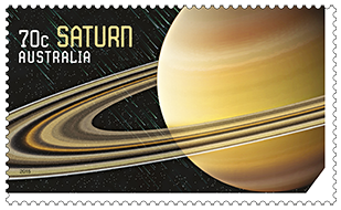 Australia 2015 Our Solar System Saturn stamp