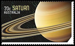 Australia 2015 Our Solar System Saturn stamp