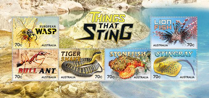 Australia 2014 Things That Sting minisheet