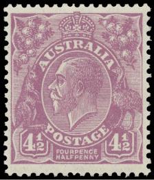 Australia KGV 4d halfpenny Die II violet