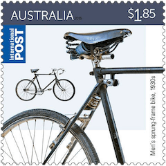 Australia 2015 Bicycle $1.85 1930s men's sprung-frame bike stamp