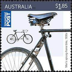 Australia 2015 Bicycle $1.85 1930s men's sprung-frame bike stamp