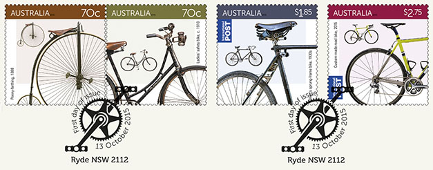Australia 2015 Bicycles Ryde FDI postmark
