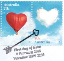 Australia 2015 Valentine postmark