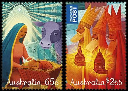 Australia 2015 Christmas stamps (religious)