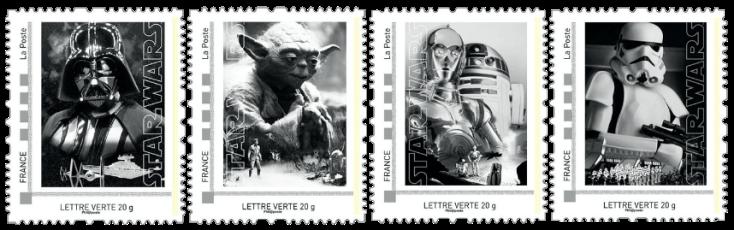 2015 France Star Wars stamps