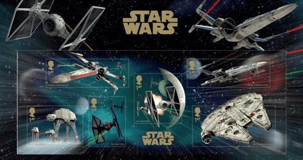 2015 UK Star Wars Vehicles Sheetlet