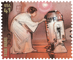 2007 USA Star Wars Princess Leia stamp