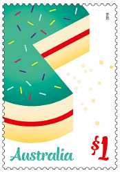 Australia 2015 $1 Love To Celebrate Birthday stamp