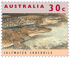 Australia 1994 30c crocodile stamp