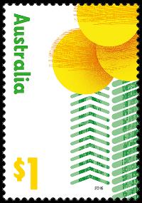Australia 2016 Love To Celebrate golden wattle stamp