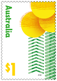 Australia 2016 Love To Celebrate golden wattle stamp