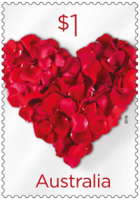 Australia 2016 Love To Celebrate heart stamp