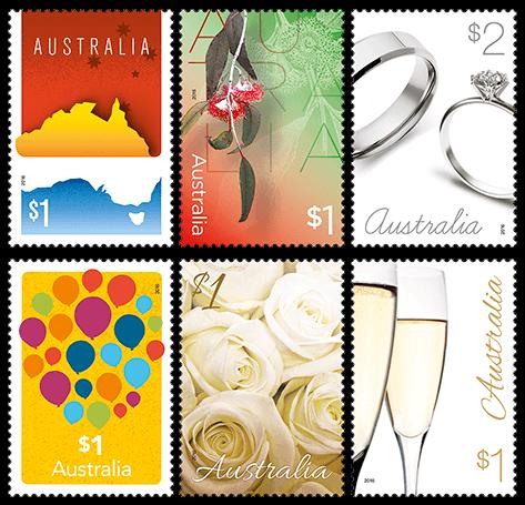 Australia 2016 Love To Celebrate partial stamp set