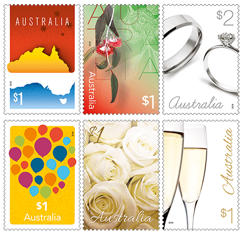 Australia 2016 Love To Celebrate partial stamp set