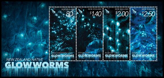 New Zealand 2016 Native Glowworms miniature sheet