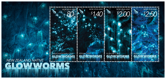 New Zealand 2016 Native Glowworms miniature sheet