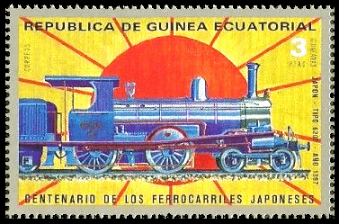Equatorial Guinea 1972 3ptas Centenary of Japanese Railroads