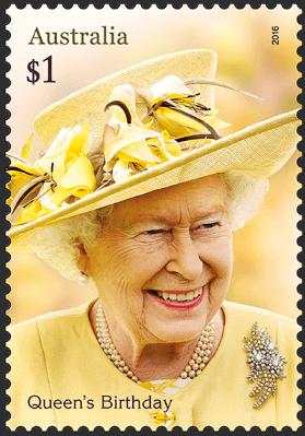 Australia 2016 $1 Queen's Birthday stamp