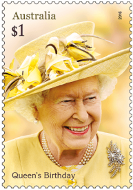 Australia 2016 $1 Queen's Birthday stamp