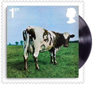 UK 2016 1st Pink Floyd Atom Heart Mother (1970) Album Cover Stamp