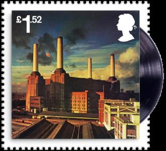UK 2016 £1.52 Pink Floyd Animals (1977) Album Cover Stamp