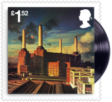 UK 2016 £1.52 Pink Floyd Animals (1977) Album Cover Stamp