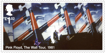 UK 2016 £1.52 Pink Floyd The Wall Tour 1981 stamp