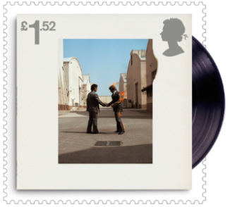 UK 2016 £1.52 Pink Floyd Wish You Were Here (1975) Album Cover Stamp