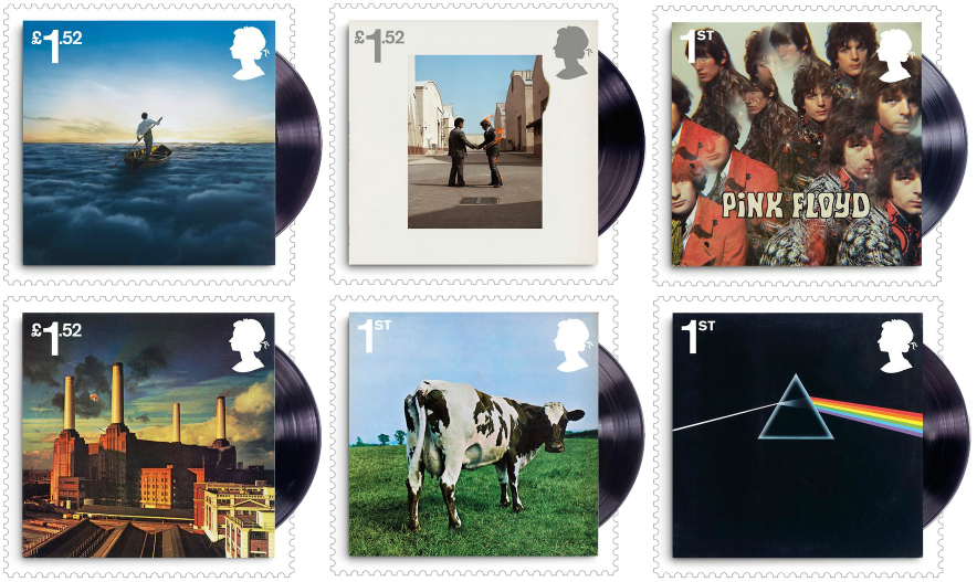 UK 2016 Pink Floyd album cover stamps