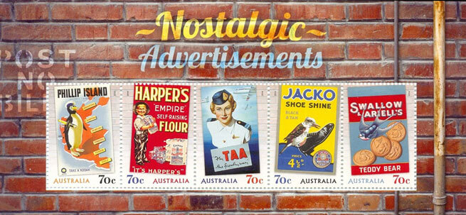 Australia 2014 Nostalgic Advertising minisheet