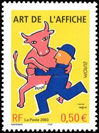 France 2003 Europa 50c Poster Art