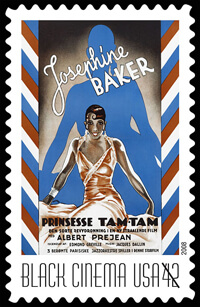 USA 2008 Vintage Black Cinema 42c Josephine Baker