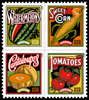 USA 2015 Summer Harvest stamp set
