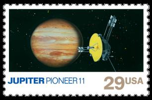USA 1991 Space Exploration Jupiter stamp