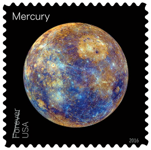 USA 2016 Views of our Planets Mercury Forever stamp